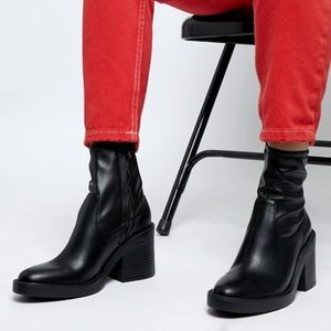 asos chunky sock boots